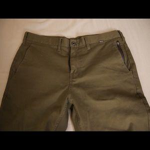 Hurley Corman 3.0 men's chino pants dark green 33